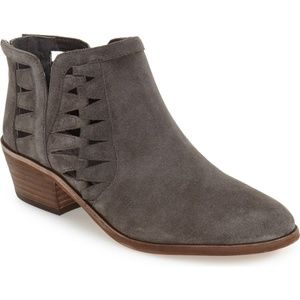 Vince Camuto Peera Grey Suede Ankle Boots